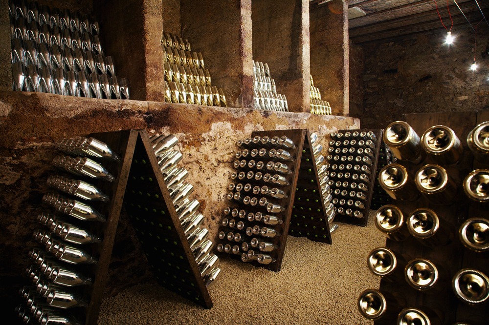 Armand de Brignac – Bottles aging at Cattier