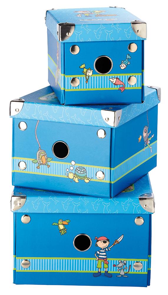 sigikid – 3er Set Aufbewahrungsboxen